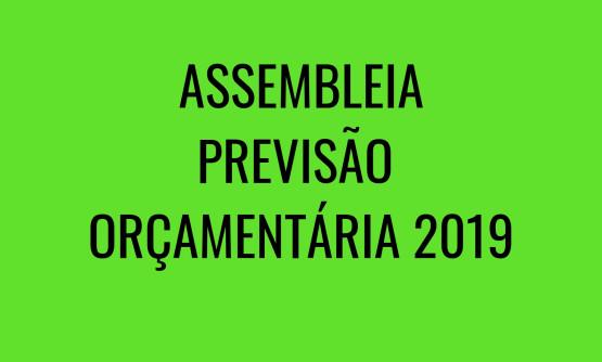 ASSEMBLEIA PREVISÃO ORÇAMENTÁRIA 2019