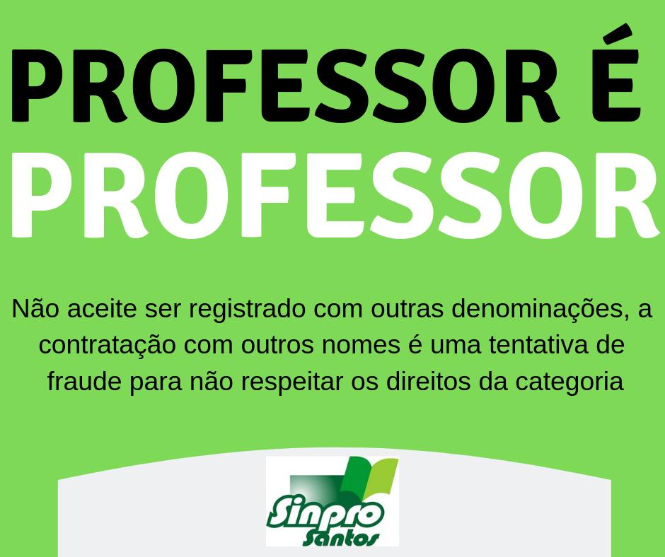 professor é professor